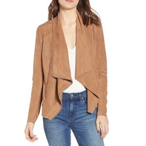 BLANKNYC Faux suede drape zipper jacket S/M